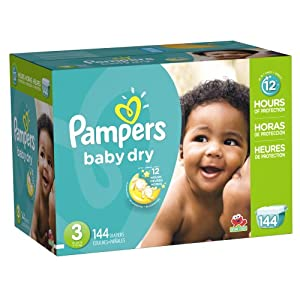 Pampers Baby Dry Diapers Size 3 Giant Pack 144 Count