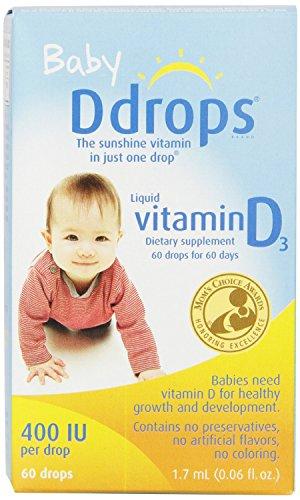 D Drops - D Drops Liquid Vitamin D3 For Babies - 400 Iu - 0.06 Fl Oz