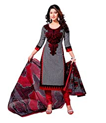 Miraan Women's Cotton Unstitched Salwar Suit Dress Material (Sg421 _Red _Free Size)