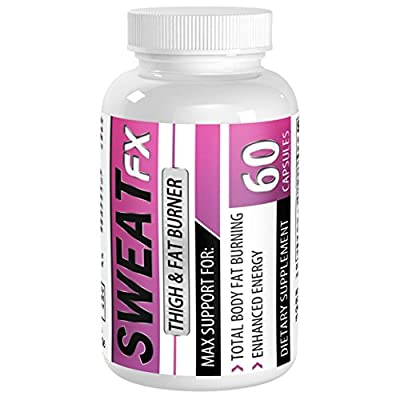 Sweat FX Thigh Fat Burner by Vimulti Designed To Lose BELLY FAT and Melt Thighs Via Sweat Burning- Reduce Thigh Fat without Thigh Wraps- Pure Raspberry Ketone & Green Tea Supplement-Best Fat Burner