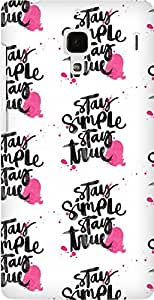 AMEZ designer printed 3d premium high quality back case cover for Xiaomi Redmi 1S (stay simple stay true)