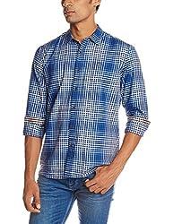 Lee Men's Casual Shirt (8907222669737_L18265386B6D00L_Large_Blue)