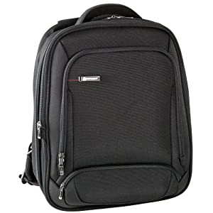 Delsey Login Sac A Dos Extensible 2 Compartiments Protection Pc 15,6'', Bagage - Noir (Black)