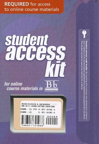 Blackboard -- Access Card -- for Introduction to Contemporary Geography