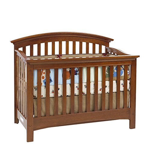 Baby Cache Bliss Essential Curved Top Crib, Chestnut front-710388
