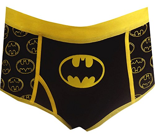 DC Comics Batman Glow in the Dark Logo Boy Brief Panty for women (2X)