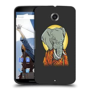 Snoogg Elephant Man Designer Protective Back Case Cover For MOTOROLA NEXUS 6