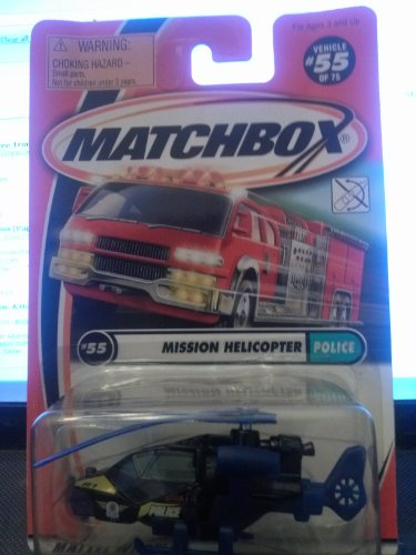 Matchbox mission Helicopter Police 55/75 2001 - 1