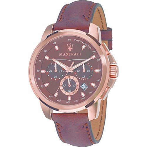 ff79e74ed48e Reloj Maserati R8871621004 Hombre Marrón Piel Cronógrafo