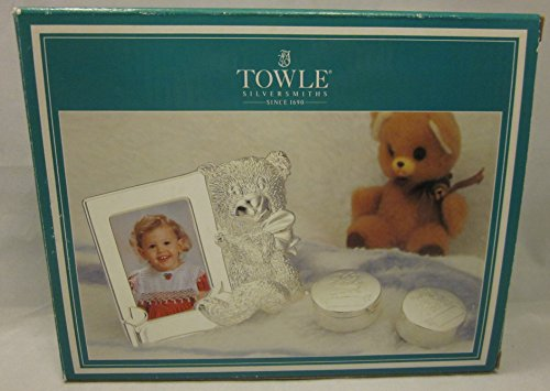Towle Silverplated 3 Pieces Baby Set Keepsakes First Curl First Tooth Picture Frame