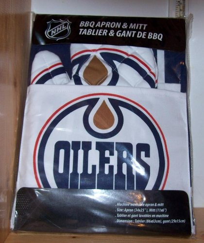 Edmonton Oilers Apron with Oven/Barbeque Mitt
