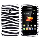 CoverON® Hard Snap-On Cover Case with BLACK WHITE ZEBRA Design for SAMSUNG M830 GALAXY RUSH BOOST MOBILE With PRY- Triangle Case Removal Tool [WCJ81]