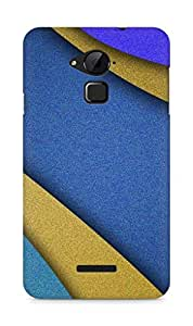 AMEZ Abstract blue and yellow Back Cover For Coolpad Note 3
