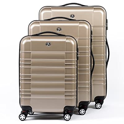 FERGÉ three suitcase set NICE - 3 suitcase hard-top cases - three pcs luggage with 4 wheels (360) - ABS & PC