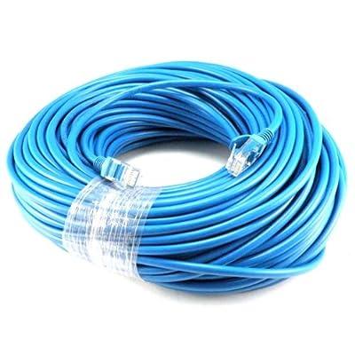 Cat5e RJ45 Network Ethernet Lan Cable - Blue - 200 ft