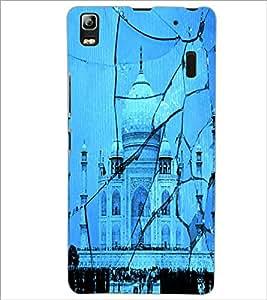 PrintDhaba Taj-Mahel D-2843 Back Case Cover for LENOVO A7000 PLUS (Multi-Coloured)