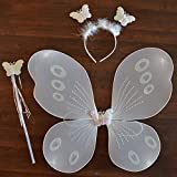 Infinxt Fairy Butterfly Wings Costume For Baby Girl Angel Birthday Party White