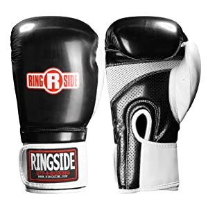 Ringside Arrow Sparring Gloves, Black, 16-Ounce
