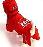 SCT Pet Rainy Days Slicker Raincoat (M, Red)