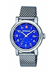 Wenger Urban Classic Women's Quartz Watch with Blue Dial Analogue Display and Silver Stainless Steel Bracelet...