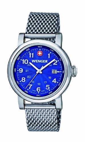 Wenger 011021107 - Reloj de pulsera mujer, acero inoxidable, color plateado