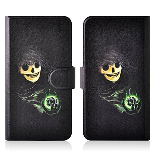 Generic Magic Ball Devil PU Leather New Flip Case Cover For Asus Zenfone 5 lite A502cg (Devil Case For Zenfone 5 compare prices)