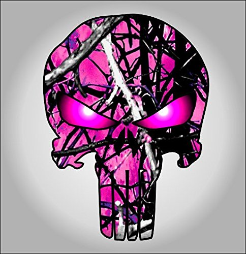 Hot pink camouflage punisher sticker / decal **Free Shipping** (Hot Pink Truck Accessories compare prices)