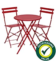 Cortardo Folding Bistro Table & 2 Chairs
