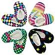 4pk Women's Warm & Cozy Feet Fuzzy Slippers Non-Slip Lined Socks Booties Indoor