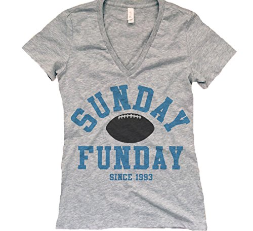 Women's Sunday Funday Carolina Football Deep V-Neck Shirt