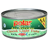 Polar Chunk Light Tuna in Water, 6-Ounce Cans (Pack of 48)