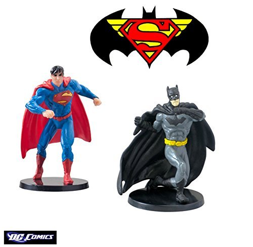 "Dc Comics Superman and Batman Figurines 2.75"" PVC"