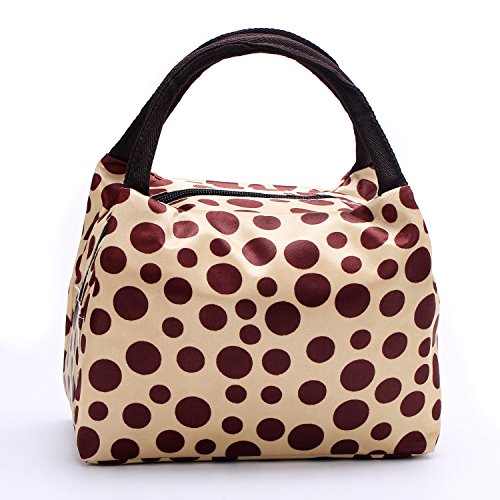 Chrysansmile Fit and Fresh Insulated Fashion Printing Lunch Bag Lovely Pattern Picnic Tote Grocery Cooler Bag with Zipper and Dual Handles - 1