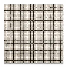 Crema Marfil Marble 5/8 X 5/8 Tumbled Mosaic Tile
