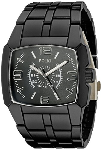 Folio Men's FMDMSG037 Analog Display Quartz Black Watch