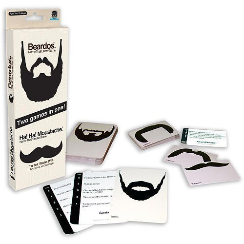 Facial Hair Funpack Beardos/Ha! Ha! Moustache Name That 'Stache Game - 1