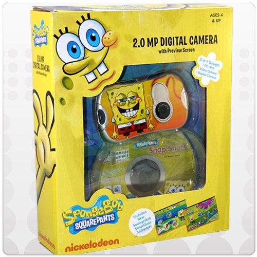 Nickelodeon SpongeBob Digital Camera with 1.4-Inch LCD Screen - Yellow (27062)