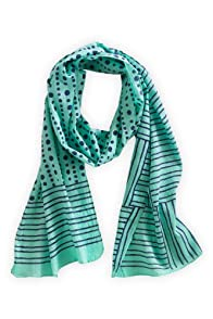 Asian Eye Mint Tamara Cotton Fair Trade Scarf