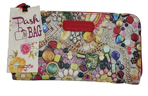 Portafoglio Pashbag by L'atelier du sac mod 4410 porte monnaie ROSSO