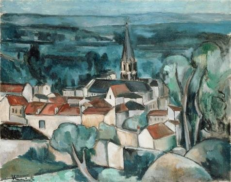 Oil Painting 'Bougival,1909 By Maurice De Vlaminck' Printing On Polyster Canvas , 12x15 Inch / 30x39 Cm ,the Best Wall Art Decoration And Home Artwork And Gifts Is This High Resolution Art Decorative Canvas Prints (5x7 Drawing Tablet compare prices)
