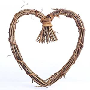 Natural Twig Grapevine Heart Shaped Wreaths for Your Decorating and Craft Projects- Package of 6