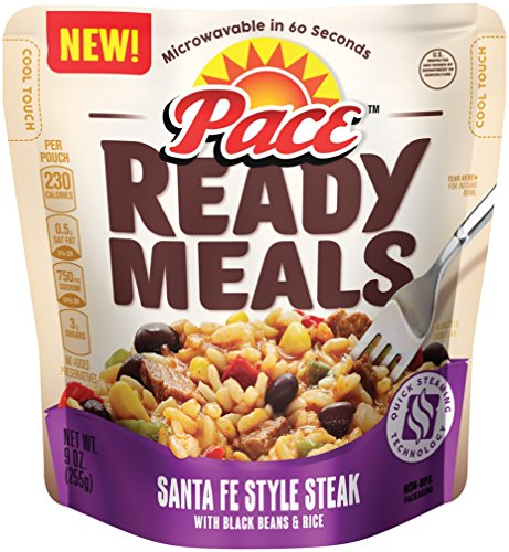 Pace Ready Meals, Santa Fe Style Steak with Black Beans & Rice, 9 Ounce (Pack of 6) (Packaged Meals compare prices)
