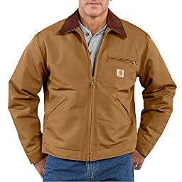Carhartt Men\'s Weathered Duck Detroit Jacket J001,Carhartt Brown,Small