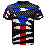 Puerto Rico Rican Flag Awsome Beast Ripped Pattern T-shirt L Multicolor
