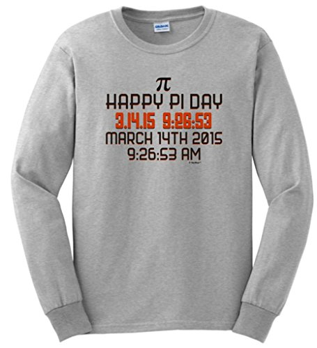 Happy Pi Day, March 14 2015 Long Sleeve T-Shirt Small Ash