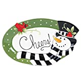 Fitz & Floyd Fitz and Floyd Frosty's Frolic Collection, Sentiment Tray, Red/White