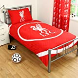 LIVERPOOL FC BULLSEYE SINGLE DUVET SET QUILT COVER LFC CREST FOOTBALL BEDDING by LIVERPOOL FC