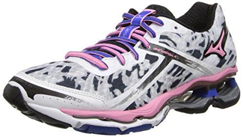 Mizuno Women's Wave Creation 15 Running Shoe,White/Sea Pink/Dazzling Blue,9.5 B US