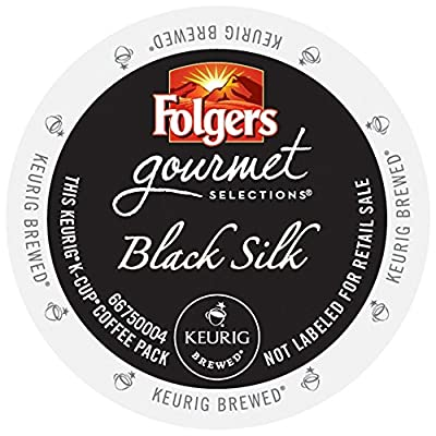 Folgers Gourmet Selections Coffee, Black Silk, for Keurig Brewing Systems (96 count) by Folgers