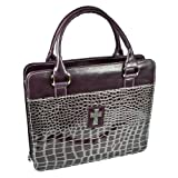 Purple Metallic Croc Purse-Style Bible / Book Cover w/Cross